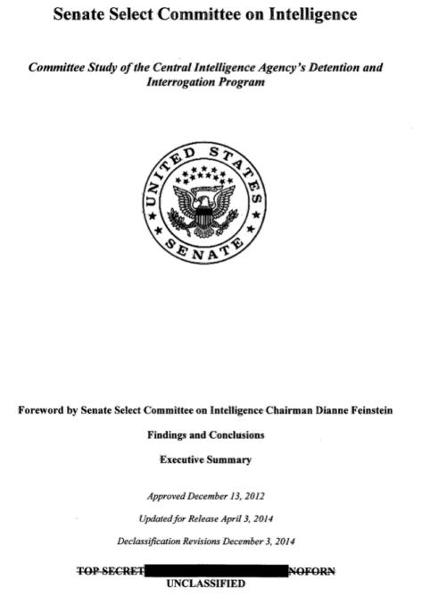 CIA Folter-Bericht Deckblatt